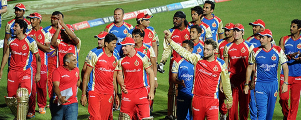 Men Who Play Cricket are Sexy, Especially RCB Indian Premier League IPL6 Players in Bangalore
