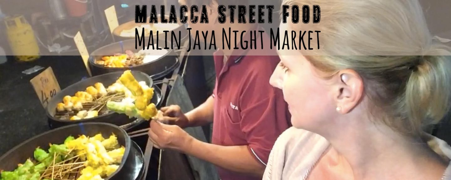 So Fun! Only Westerner at Malacca Local Night Market Pasar Malam Malim Jaya